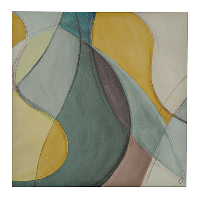 Turquoise and Gray Coalescence II Canvas Art Print