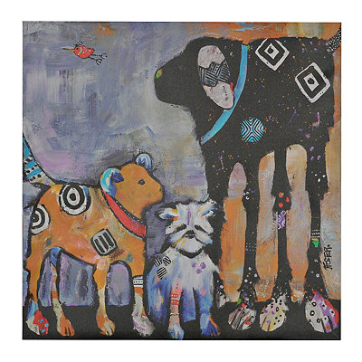 Abstract Dogs II Canvas Art Print