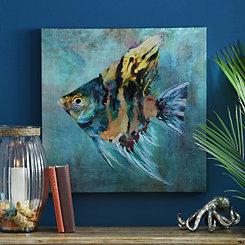 Tropical Fish I Canvas Art Print