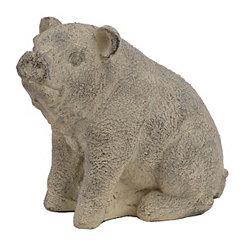 Sitting Pig Statue