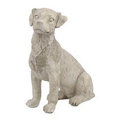 Sitting Terrier Statue