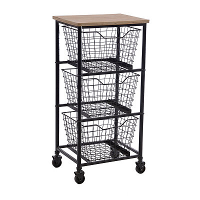 Gleason 3-Drawer Storage Cart