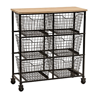 Gleason 6-Drawer Storage Cart