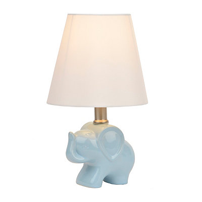 Blue Elephant Ceramic Table Lamp