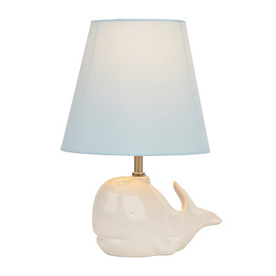 White Whale Ceramic Table Lamp