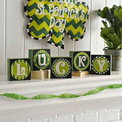 St. Patrick's Day Lucky Blocks, Set of 5