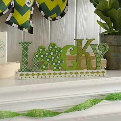Cutout Lucky Tabletop Sign