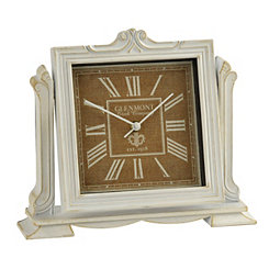 Whitewash Charlotte Tabletop Clock