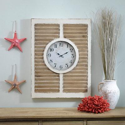 Blakely Natural Shutter Clock