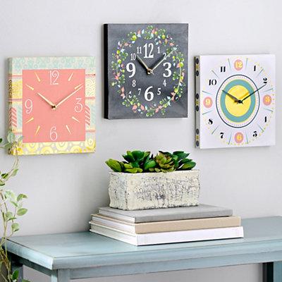 Vintage Canvas Clocks