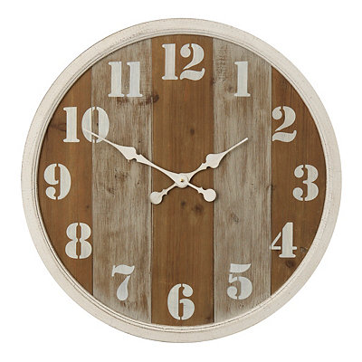 Distressed Beadboard Wooden Clock