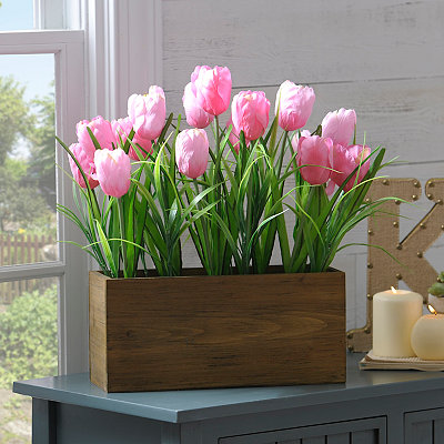 Pink Tulip Box Arrangement
