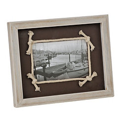 Chocolate Knotted Rope Picture Frame, 4x6
