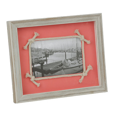 Coral Knotted Rope Picture Frame, 4x6