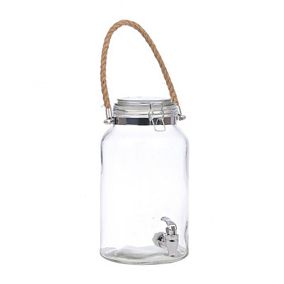 Hinged Beverage Dispenser with Rope Handle