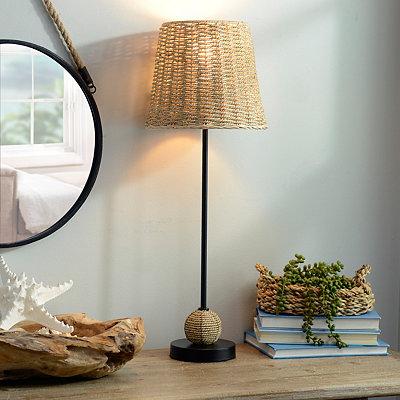 Natural Woven Buffet Lamp