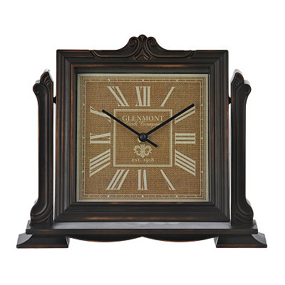 Charlotte Bronze Tabletop Clock
