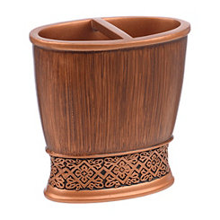Embossed Copper Toothbrush Holder