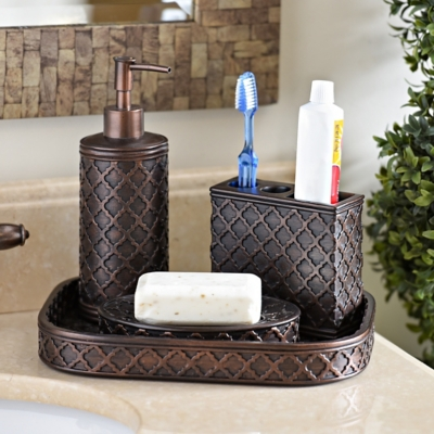 Garden Gate Embossed 4-pc. Bath Accessory Set