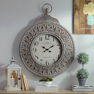 Taupe Grandfather Watch Clock