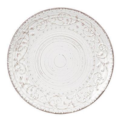 Cream Venetian Scroll Dinner Plate