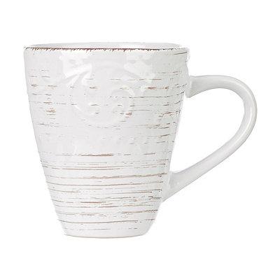 Cream Venetian Scroll Mug