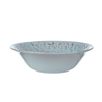 Turquoise Venetian Serving Bowl