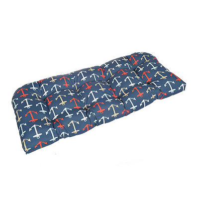 Nautical Anchor Outdoor Settee Cushion