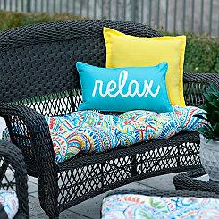 Ummi Multicolor Outdoor Settee Cushion