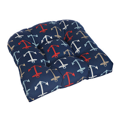 Nautical Anchor Outdoor Cushion