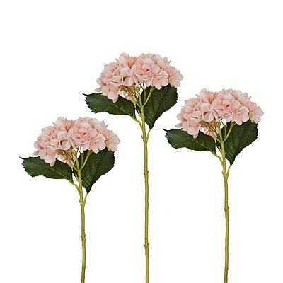 Pink Hydrangea Stems, Set of 3