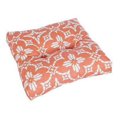 Coral Dora Outdoor Ottoman Cushion