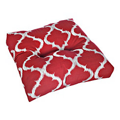 Kobe Red Outdoor Ottoman Cushion