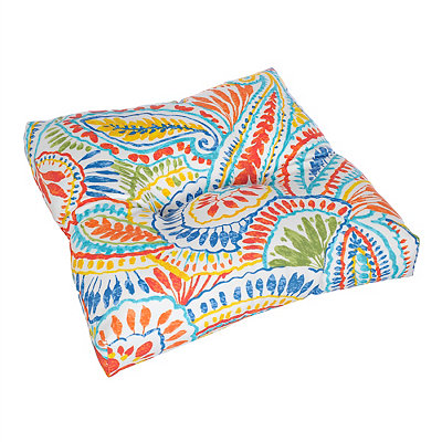 Ummi Multicolor Outdoor Ottoman Cushion