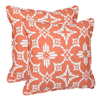 Coral Dora Outdoor Accent Pillows, Set of 2