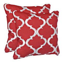Kobe Red Outdoor Accent Pillows, Set of 2