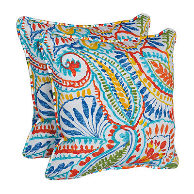 Ummi Multicolor Outdoor Accent Pillows, Set of 2