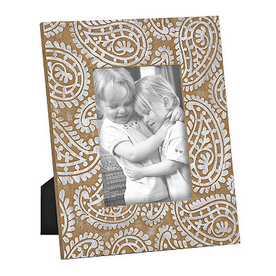 Paisley Print Wooden Picture Frame, 5x7