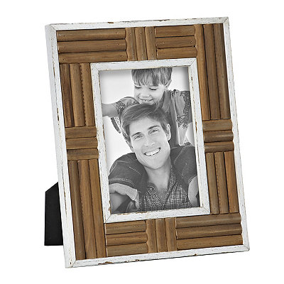 Distressed Natural Wood Plank Picture Frame, 5x7