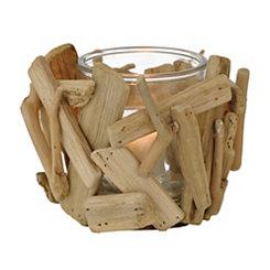 Natural Driftwood Votive Candle Holder