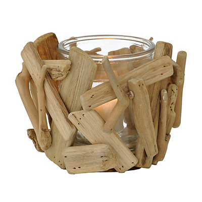Natural Driftwood Votive Candle Holder