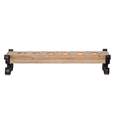 Wood and Metal Candle Runner