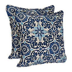 Woodblock Prism Outdoor Accent Pillow Set
