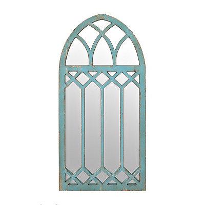 Mallie Turquoise Arch Mirror, 23.75x51.5