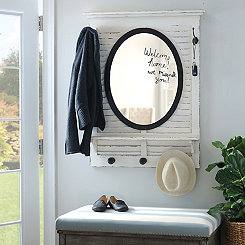 Shutter Mirror with Hooks
