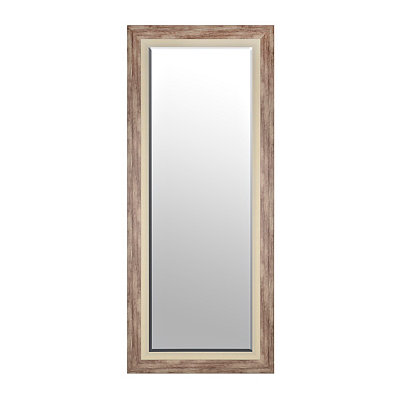 Gray Driftwood Framed Mirror, 33.25 x 79.25
