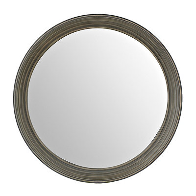 Blue Port Hole Mirror, 24.5 in.