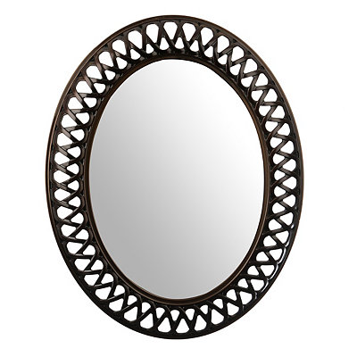 Bronze Weave Oval Mirror