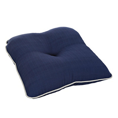 Solid Navy Outdoor Cushion