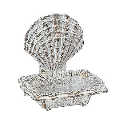 Scallop Shell Coastal Soap Dish